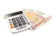 чалькулятор 1000 кредиток бата Стоковая Фотография