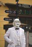 Чарли Чаплин на белизне Стоковые Фотографии RF