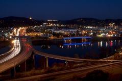 Чарльстон - West Virginia (ноча) стоковое изображение