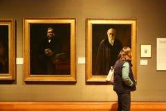 Чарлз Дарвин в национальной галерее портрета, Лондоне Стоковые Фотографии RF