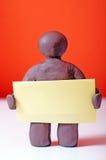 Чарли меньшая карточка удерживания желтая Стоковые Изображения