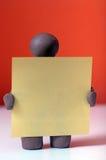 Чарли немногое с большой карточкой Стоковая Фотография RF