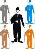 Чарли Чаплин - моя карикатура Стоковые Изображения RF