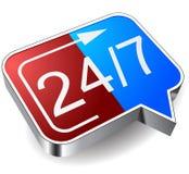 24 часа значка стоковые изображения rf