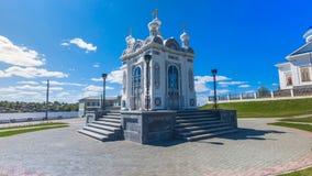 Часовня Александра Nevsky мемориальная Регион перми Dobryanka Timelapse видеоматериал