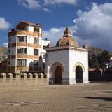 Часовня базилики в Copacabana, Боливии Стоковое фото RF
