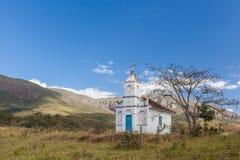 Часовня в горах положения Gerais мин - Бразилии Стоковое Изображение RF