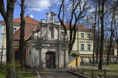 Часовня в старом городке в Вильнюсе стоковое изображение rf