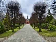Часовня захоронения в Esbjerg, Дании стоковое фото rf