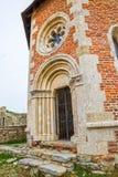 Часовня и стены на замке Medvedgrad Стоковая Фотография
