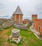 Часовня и стены на замке Medvedgrad Стоковые Изображения