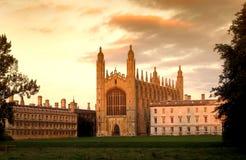 Часовня коллежа ` s короля, Кембридж, Англия, Великобритания стоковые изображения rf