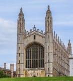 Часовня коллежа ` s короля, поздно перпендикулярная готическая английская архитектура, Кембридж, Англия стоковые фото