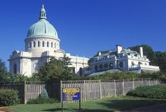 Часовня на военно-морском училище Соединенных Штатов, Аннаполис, Мэриленд Стоковые Изображения RF