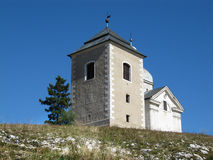 Часовня на святом холме, Mikulov St Sebastian стоковое фото rf