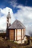 Часовня на Col di Lana, горах доломитов Альп стоковое фото