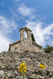 Часовня около испанской крепости, городка Hvar стоковое фото