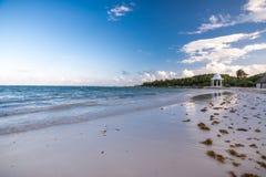 Часовня пляжа и свадьбы на Майя riviera около Cancun и Tulum i стоковые фотографии rf