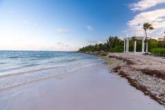 Часовня пляжа и свадьбы на Майя riviera около Cancun и Tulum i стоковая фотография