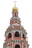 Часовня православной церков церков красного кирпича изолированной на белой предпосылке Стоковое фото RF