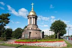 Часовня троицы в Санкт-Петербурге, России Стоковое Изображение