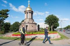 Часовня троицы в Санкт-Петербурге, России Стоковая Фотография