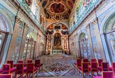 Часовня троицы, замок Фонтенбло стоковое фото