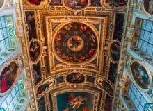 Часовня троицы, замок Фонтенбло стоковая фотография