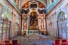 Часовня троицы, замок Фонтенбло стоковое изображение