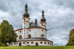 Часовня троицы Dreifaltigkeitskirche Kappl, Waldsassen, стоковое изображение