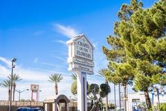 Часовня цветков Лас-Вегас Невады Стоковые Фото