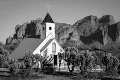 Часовня Elvis, горы суеверия в Аризоне стоковые фото