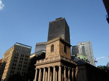 Часовня King's, улица Tremont и улица школы, Бостон, Массачусетс, США стоковая фотография rf