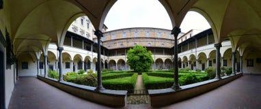 Часовня Medici в Флоренсе - внутреннем дворе стоковое фото