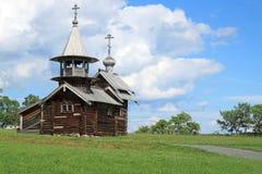 Часовня Mihaila Arhangela от деревни Lelikozero Стоковые Фотографии RF