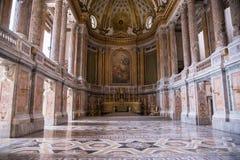 Часовня Palatine в королевском дворце Казерты Стоковое Изображение