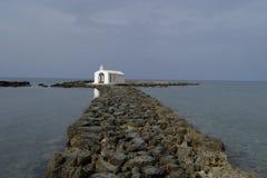 Часовня St Nicholas Georgioupolis Крит Стоковое фото RF