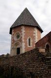 Часовня St Philip, замка Medvedgrad в природном парке Medvednica в Загребе Стоковое Изображение RF