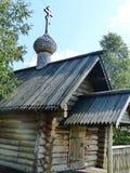Часовня StIlija столетие XVIII-th пророка Музе-запас деревянных архитектуры и народного искусства Nizhnyaya Sinyachikha стоковое изображение rf