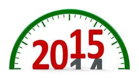 Часовой циферблат 2015, половинный Стоковое Изображение RF