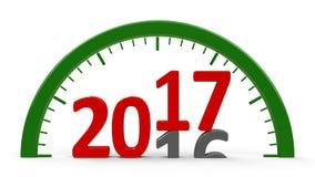 Часовой циферблат 2017, половинный Стоковое Изображение RF