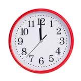 12 часов на круглой шкале Стоковая Фотография RF