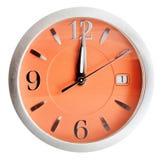 12 часов на оранжевой шкале изолированной на белизне Стоковые Изображения