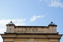 Частица входит в муниципальный рынок в Рим стоковое изображение