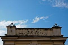 Частица входит в муниципальный рынок в Рим стоковые фотографии rf