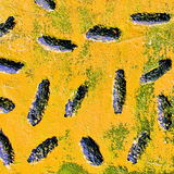 Частица искусства укомплектованная текстурой острая черная стоковая фотография