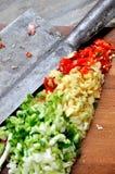 Частица овоща и приправы стоковые изображения rf