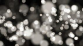 Частицы абстрактного bokeh черно-белые сток-видео