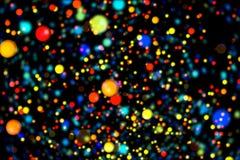 Частицы абстрактной предпосылки изображения накаляя Стоковые Фотографии RF