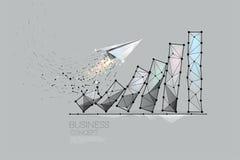Частицы, геометрическое искусство, линия и точка диаграммы дела Стоковая Фотография